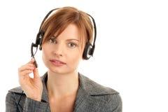 Woman wearing headset Stock Photos
