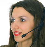 Woman Wearing Headset Royalty Free Stock Photo