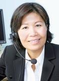 Woman Wearing Headset Stock Image