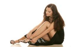 Woman wearing high heels Royalty Free Stock Photos