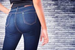 Woman wearing jean Stock Photos