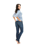 Woman wearing jeans Stock Image
