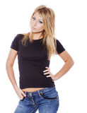Woman wearing jeans Stock Photography