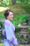 Woman wearing Kimono Royalty Free Stock Image