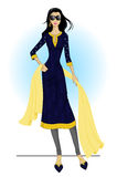 Woman wearing kurta. vector illustration