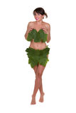 Woman wearing leaves Stock Photo
