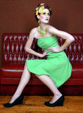 Woman Wearing Lemon and Lime as Art Stock Photography