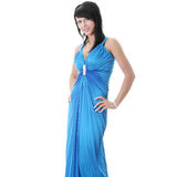 Woman wearing long elegant dress Stock Photo