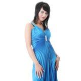 Woman wearing long elegant dress Royalty Free Stock Images