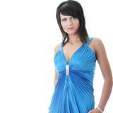 Woman wearing long elegant dress Royalty Free Stock Photo