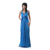 Woman wearing long elegant dress Royalty Free Stock Image