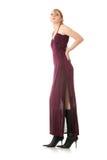 Woman wearing long elegant dress Royalty Free Stock Photos