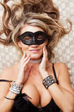 Woman wearing mask Royalty Free Stock Photos