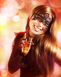 Woman wearing mask Stock Photography