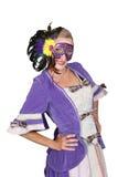 Woman wearing mask Stock Photos