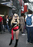 Woman wearing Ms. Marvel costume at NY Comic Con Stock Photos