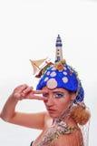 Woman wearing a nautical themed headdress Stock Photo