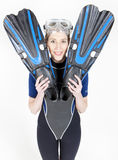 Woman wearing neoprene Stock Photography
