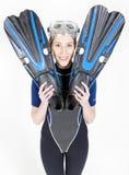 Woman wearing neoprene Stock Photography