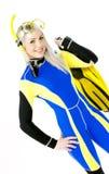 Woman wearing neoprene Royalty Free Stock Photography