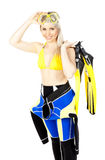 Woman wearing neoprene Royalty Free Stock Photo