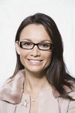 Woman Wearing New Glasses royalty free stock image