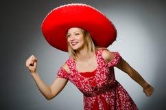 Woman wearing nice Royalty Free Stock Image