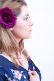 Woman wearing a nightdress Stock Photography