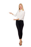 Woman wearing official casual style isolated on white Stock Photography