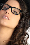 Woman wearing pair of glasses Royalty Free Stock Photography
