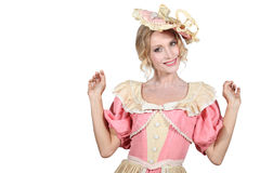 Woman wearing period costume Royalty Free Stock Image