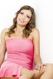 Woman wearing pink dress Royalty Free Stock Photo