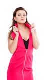 Woman wearing pink dress Royalty Free Stock Images