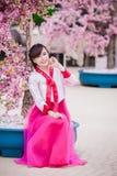 Woman Wearing Pink Kimono Stock Image