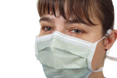 Woman wearing protective mask Royalty Free Stock Image