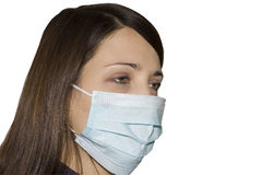 Woman wearing protective mask Stock Photos