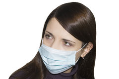 Woman wearing protective mask Stock Photo