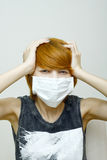 Woman wearing protective mask Royalty Free Stock Photos