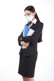 Woman wearing a protective mask with Royalty Free Stock Image