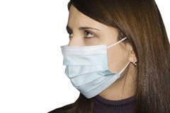 woman wearing protective mask Stock Images