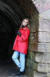 Woman wearing a red coat Royalty Free Stock Photo