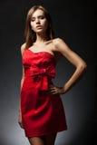 Woman wearing red dress Royalty Free Stock Image