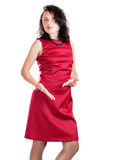 Woman wearing red dress Royalty Free Stock Image