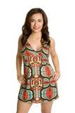 Woman Wearing Retro Dress Stock Photos