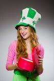 Woman wearing saint Royalty Free Stock Photo