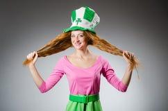 Woman wearing saint Royalty Free Stock Photos