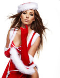 Woman wearing santa claus clothes Stock Photo