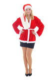 Woman wearing santa claus costume Stock Photo