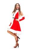 Woman wearing Santa Claus costume Stock Photos