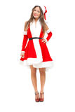 Woman wearing Santa Claus costume Stock Photography